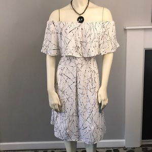 Chelsea & Theodore off the shoulder dress size S